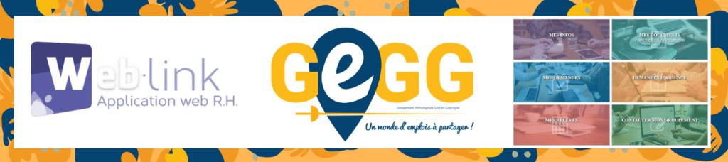 GEGG Weblink Groupement Employeur Gers Gascogne interface espace perso